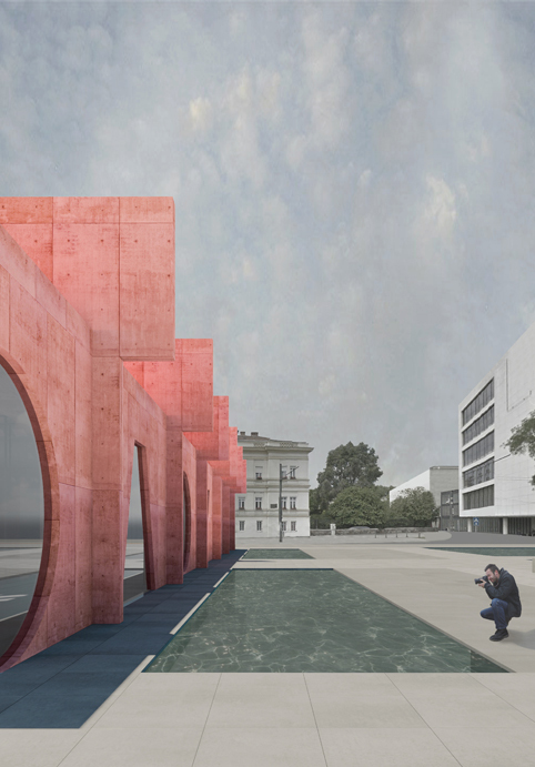 Competition Entry Proposes Colorful Duo of Museums for Budapest_IaN +