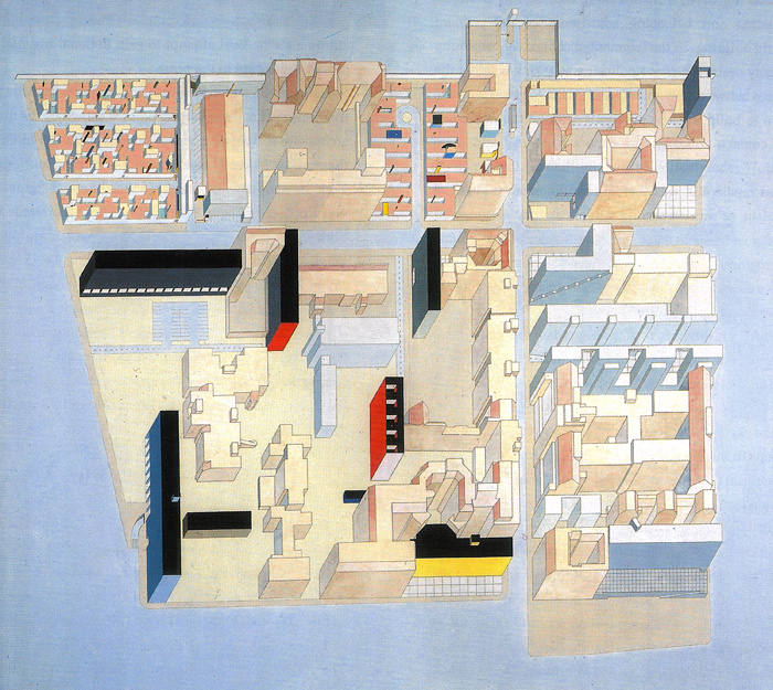 Entry for Berlin Architectural Competition, 1980 Rem Koolhaas and Madelon Vriesendorp,