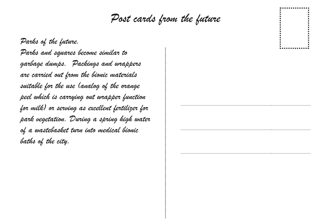 3. Future of an architecture space Cybertopia. Death of analogous cities by Egor Orlov. Post cards from the future. Parks of the future.