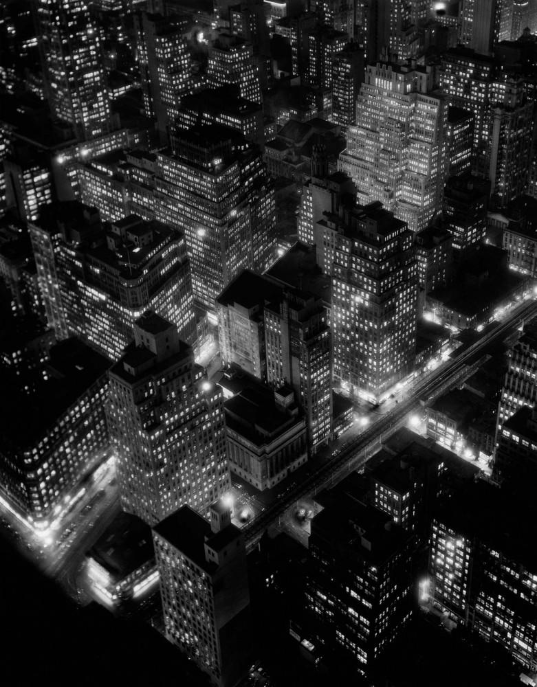 Night View, New York, 1932 Photograph: Berenice Abbott/Getty/Howard Greenberg Gallery