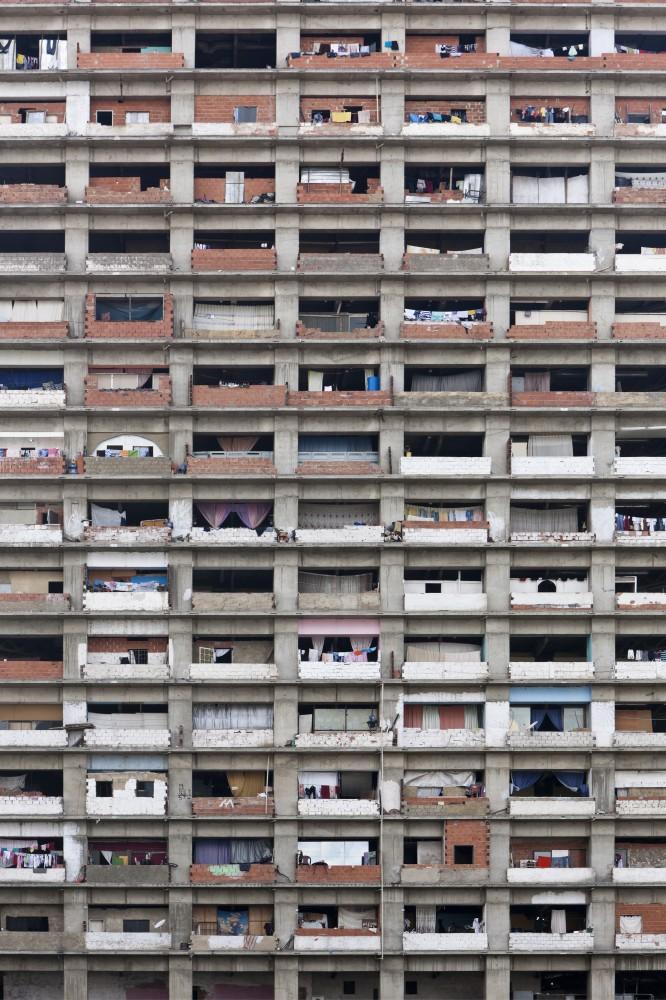 Torre David – Facade, 2011 (Caracas) Photograph: Iwan Baan/Perry Rubenstein Gallery, LA