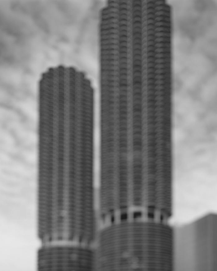 Marina City – Goldberg Associates, 2001 (Chicago) Photograph: Hiroshi Sugimoto