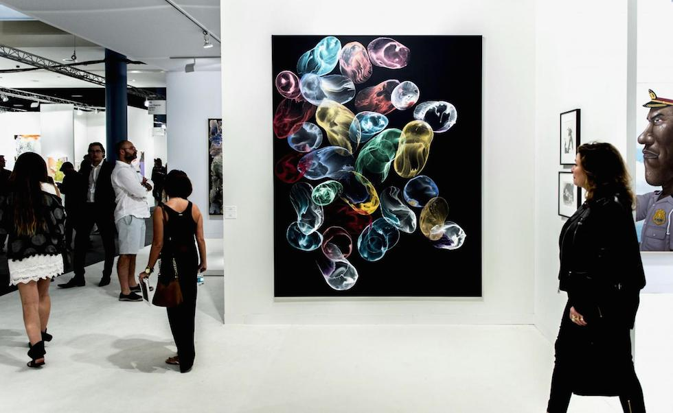 """Hukmirek""  Art Piece by Jiri Georg  showing @ Art Basel (ZumaPress-LaPresse) Miami"