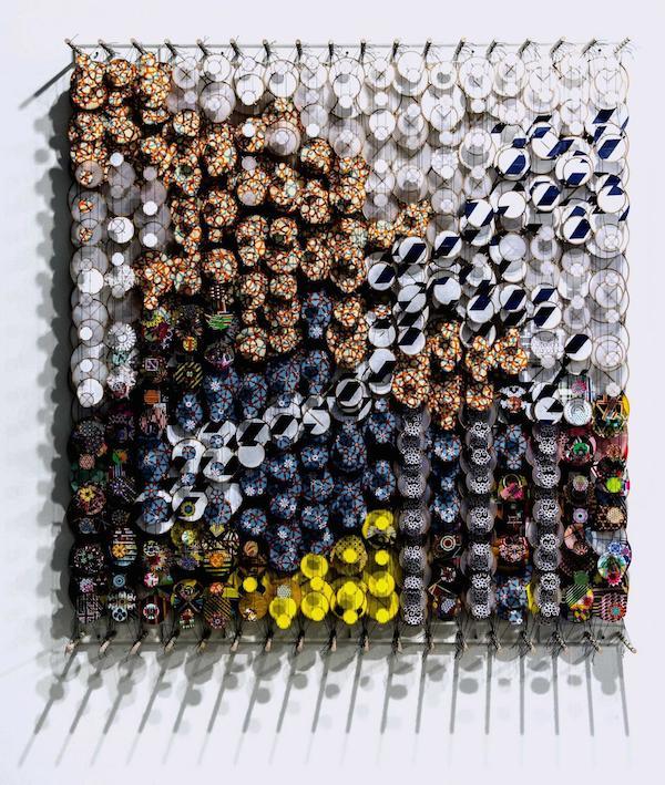 """On Units and Universes"" Art Piece by  Jacob Hashimoto @ Art Basel Miami (LaPresse)"