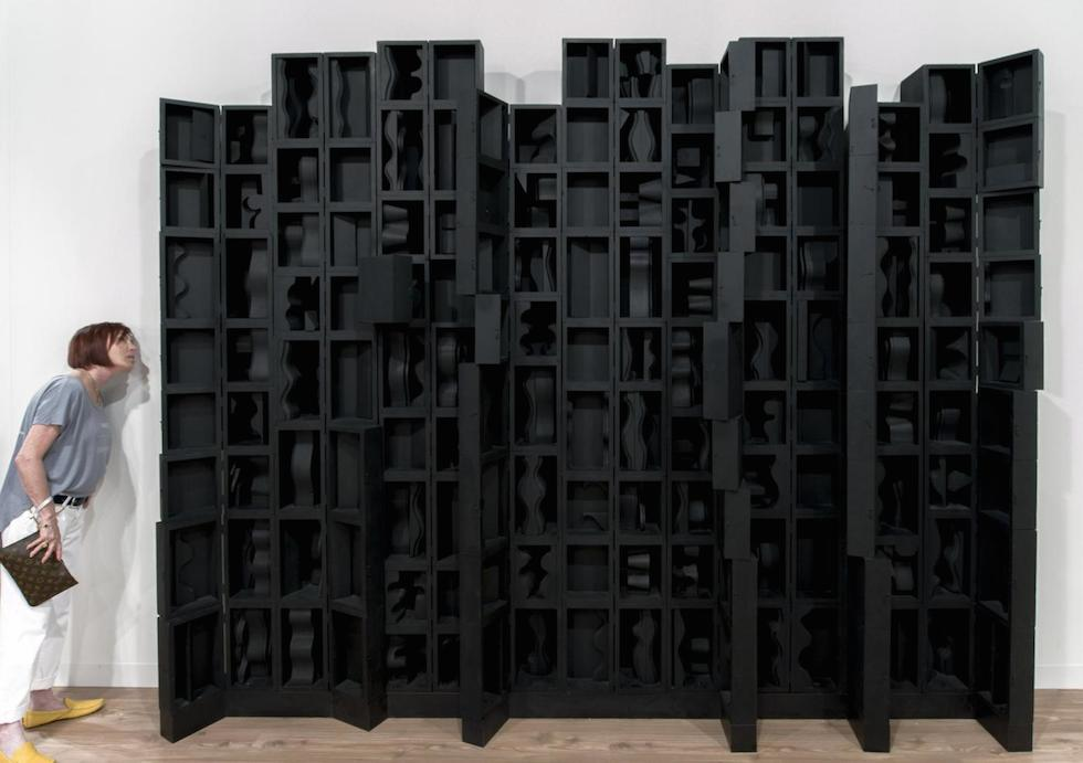 ''Cascade VII' by Louise Nevelson @ Art Basel Miami (ZumaPress-LaPresse)