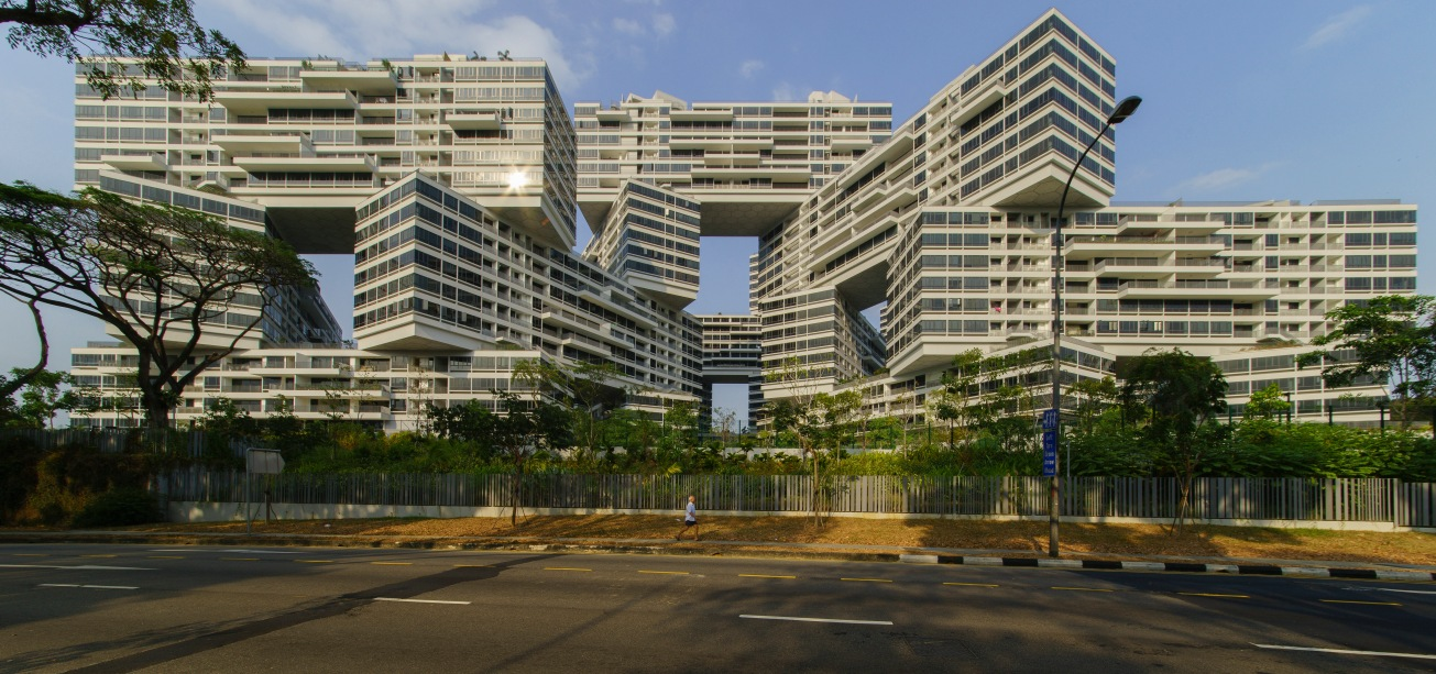 The Interlace Condominium Category: Exteriors  Photographer: Darren Soth  Architect: Ole Sheeren, OMA  Location: Singapore
