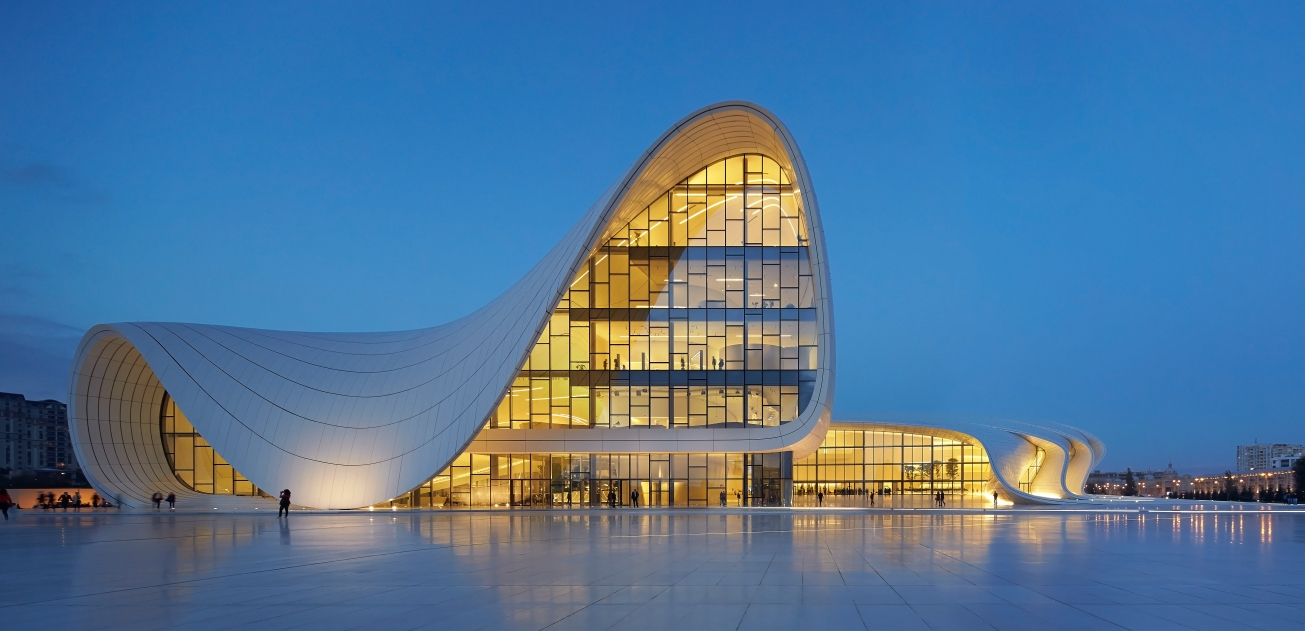 Heydar Aliyev Center Category: Exteriors  Photographer: Hufton + Crow  Architect: Zaha Hadid Architects  Location: Baku - Azerbaijan