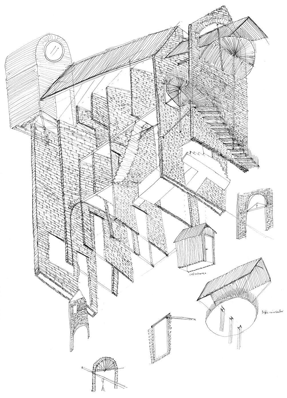 Row house Oostende, Gustav Wallerius, Accademia di Architettura di Mendrisio, 2014, Atelier De Vylder 2