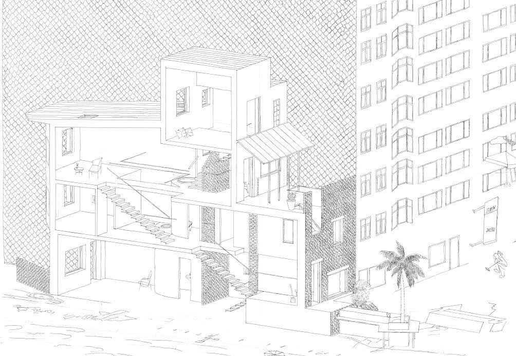 Row house Oostende, Gustav Wallerius, Accademia di Architettura di Mendrisio, 2014, Atelier De Vylder