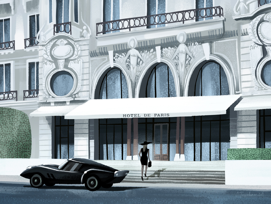 TWILIGHT DIVA CHECKS IN TO THE HOTEL DE PARIS