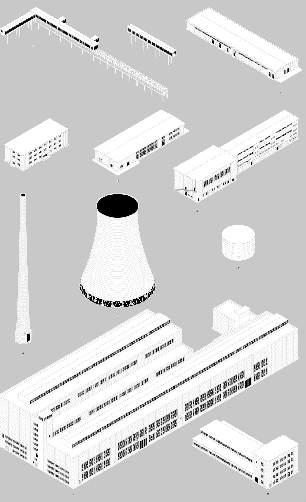big industrial objects