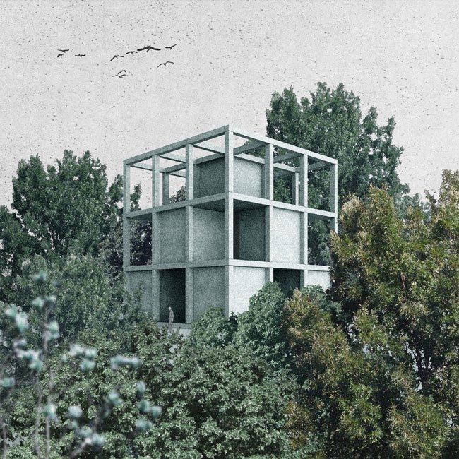 PEDRO DUARTE BENTO_KORREKTUR | HOUSE AT THE PRECISE CENTER OF THE KOBERNAUSSER FOREST, ARCHITECTURAL FOLLY, 2015_1