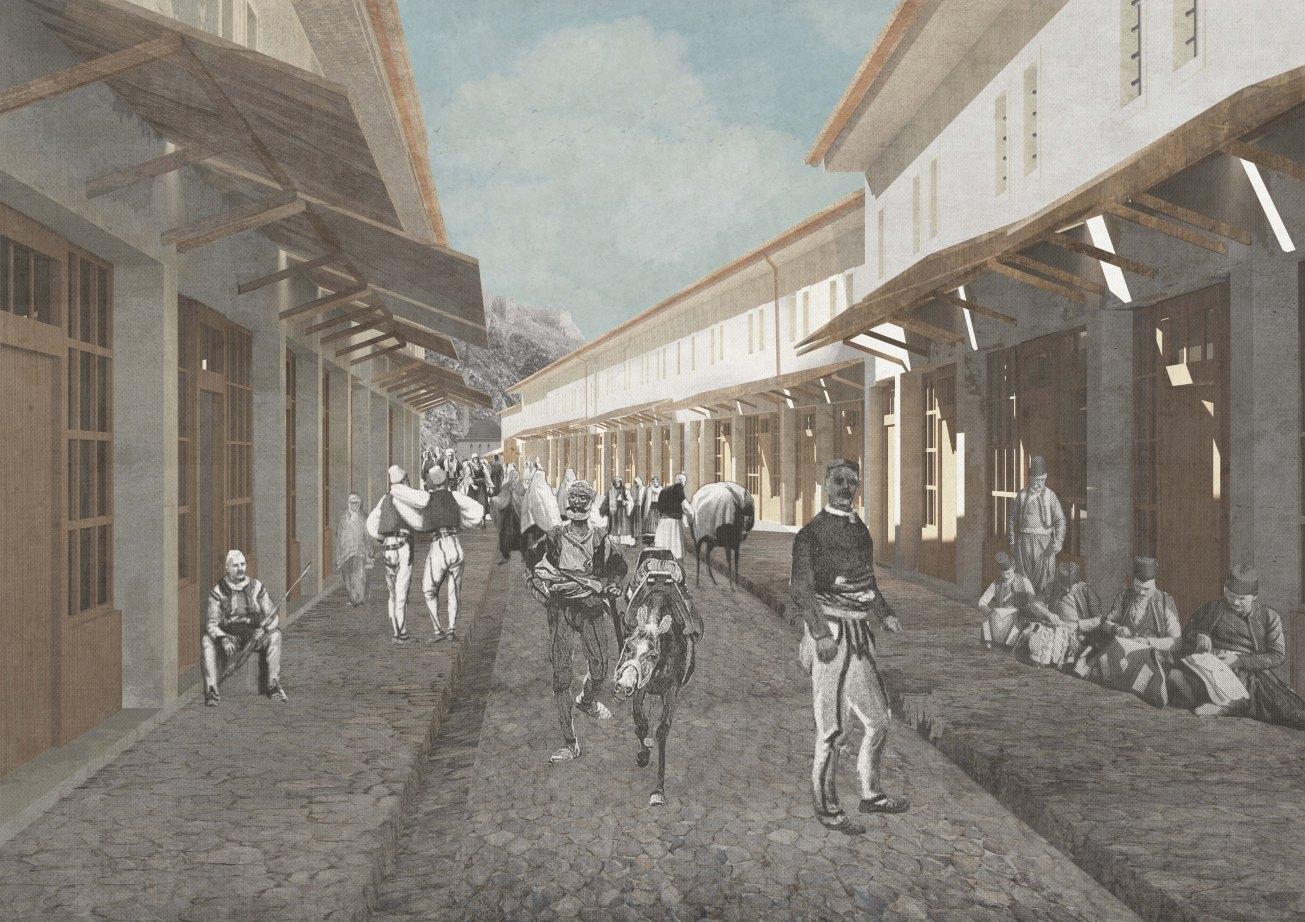 Old baazar shops, Marson Korbi, Polytechnic of Bari