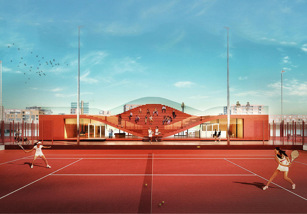 The Couch: Tennis Club IJburg (MVRDV)