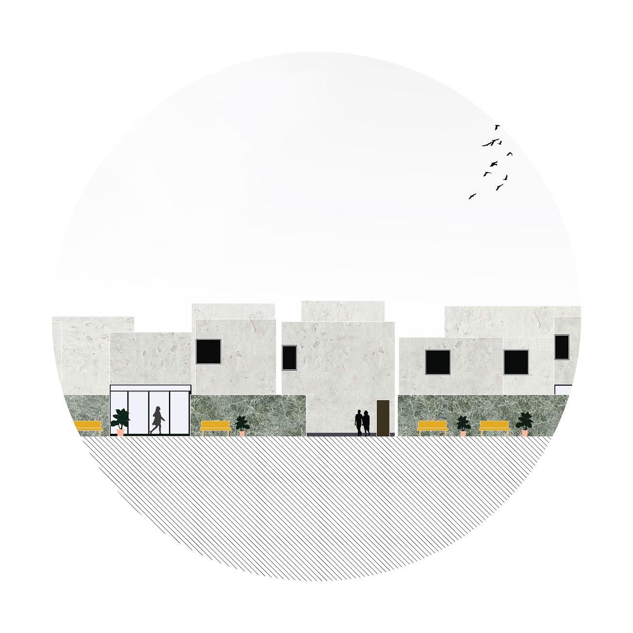 Anna Budzinskaya_Pasadena Housing_Elevation-1_Cal Poly Pomona