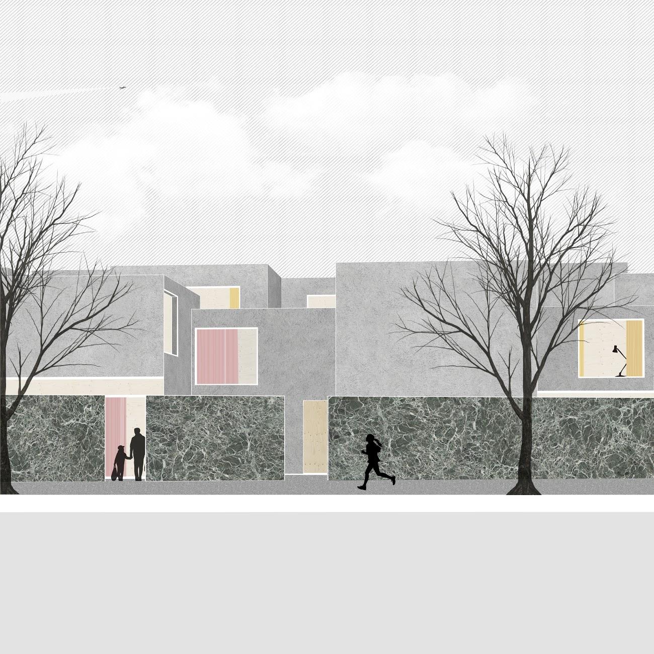 Anna Budzinskaya_Pasadena Housing_Perspective 1_Cal Poly Pomona