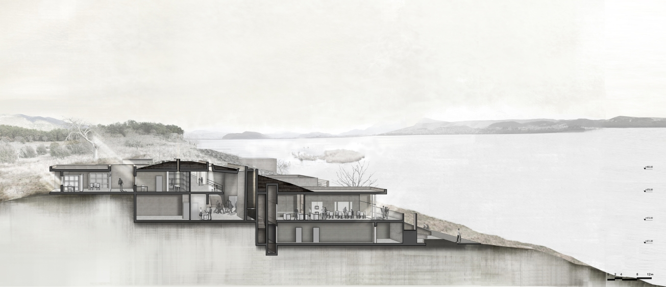 Section perspective a'_ Anna Vasileiou_5th year_School of Achitecture AUTH