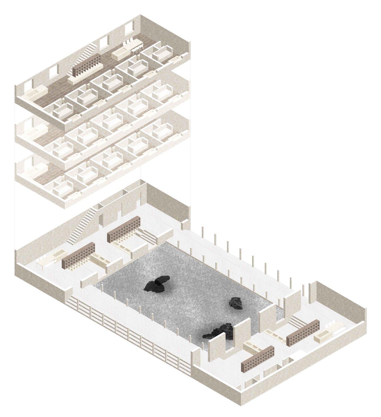 9_isometric view living quarters