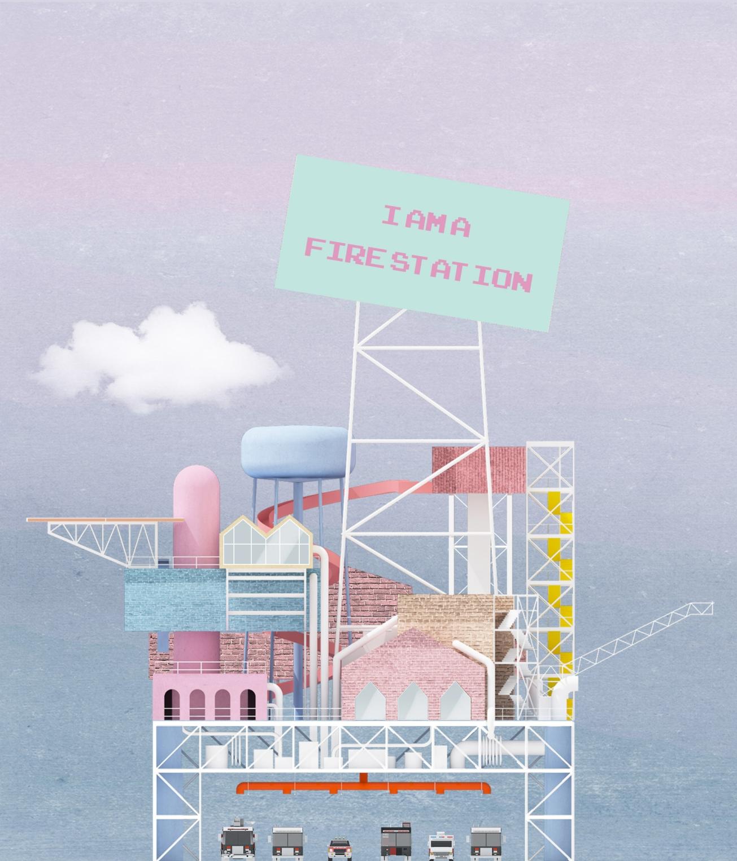 11_I am a Firestation_East Elevation _Tomas Tran_UCLA