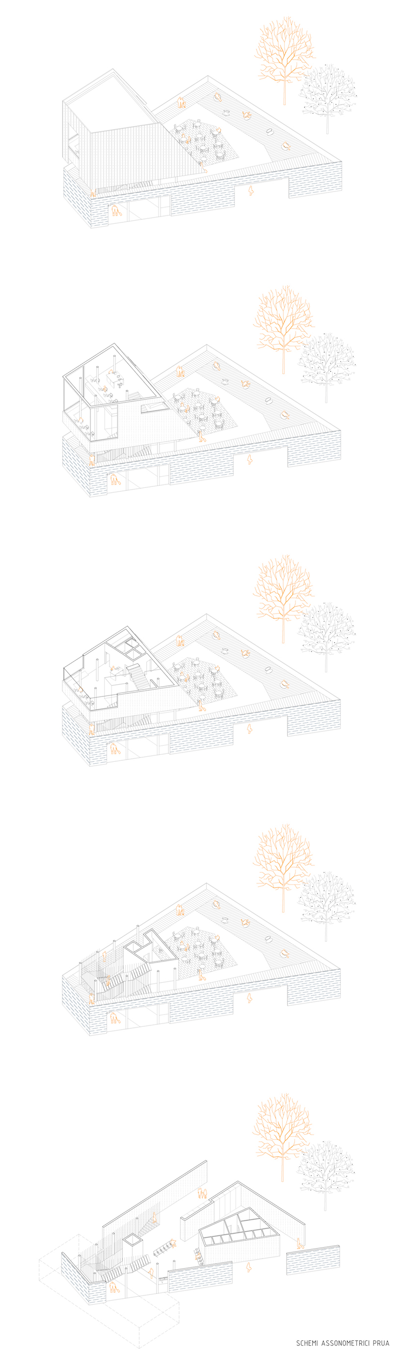 10_Axonometric composition of passangers building