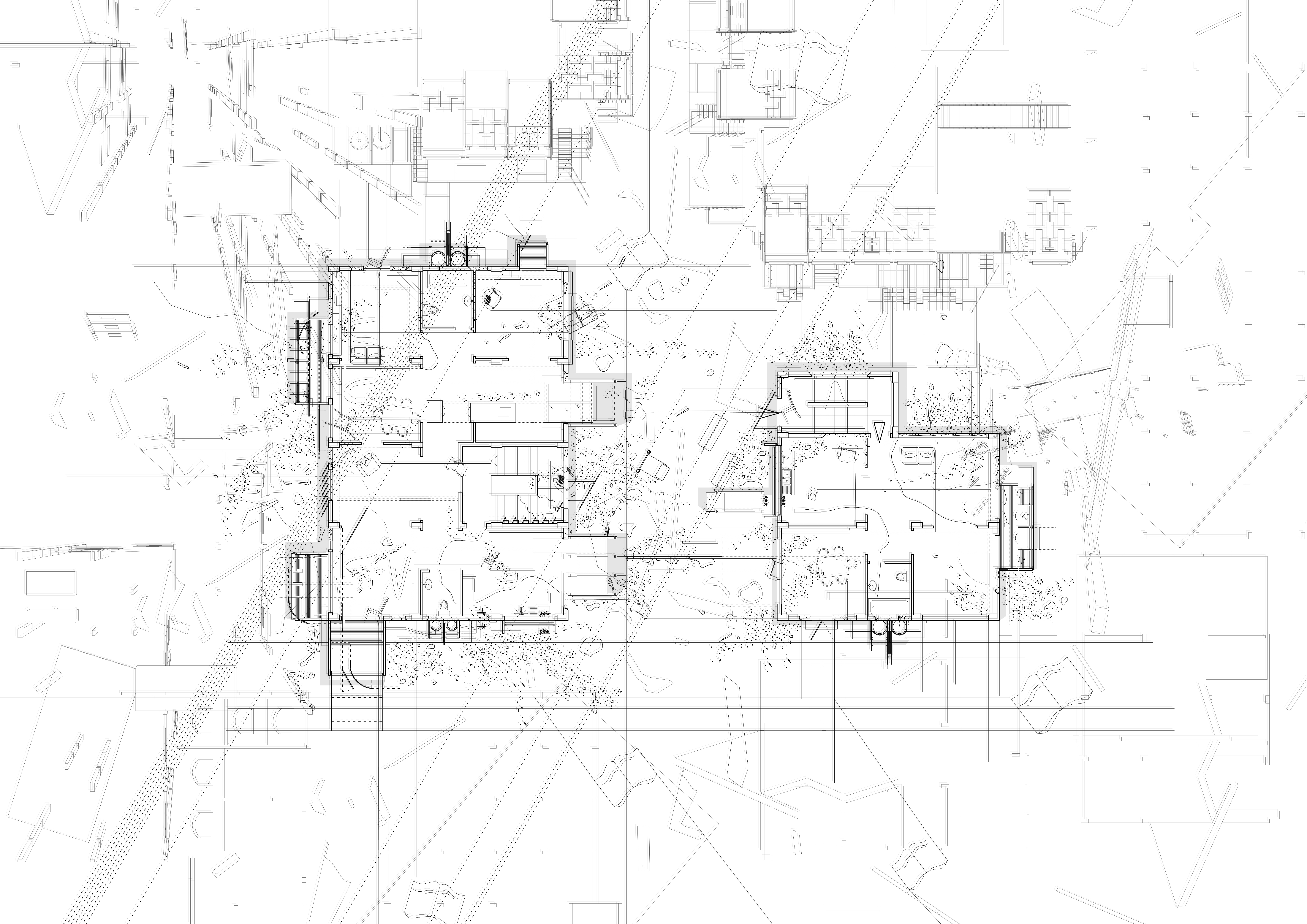 4. Plan; Exploded Collective, Rafaella Christodoulidi, Postgraduate (MArch Year I University of Westminster)