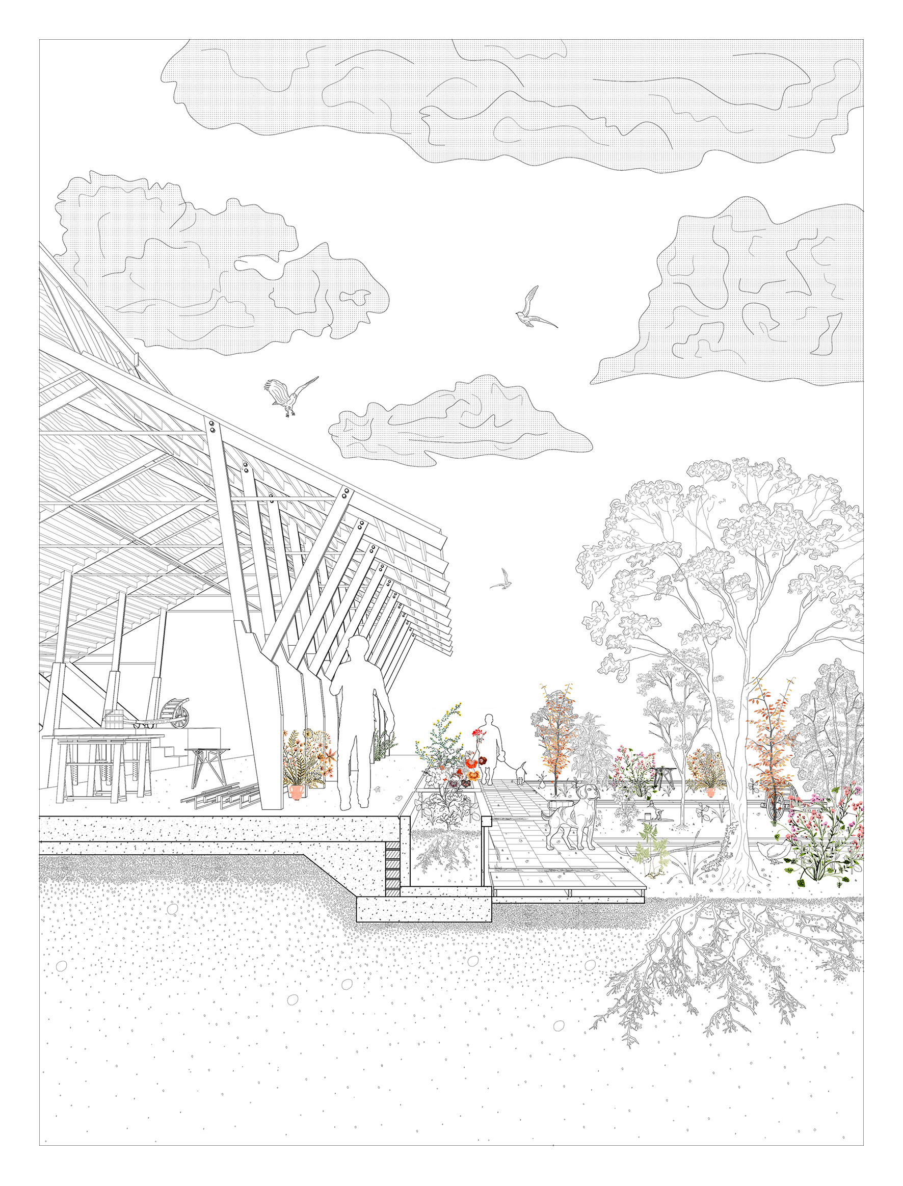 Canal House + Garden Section