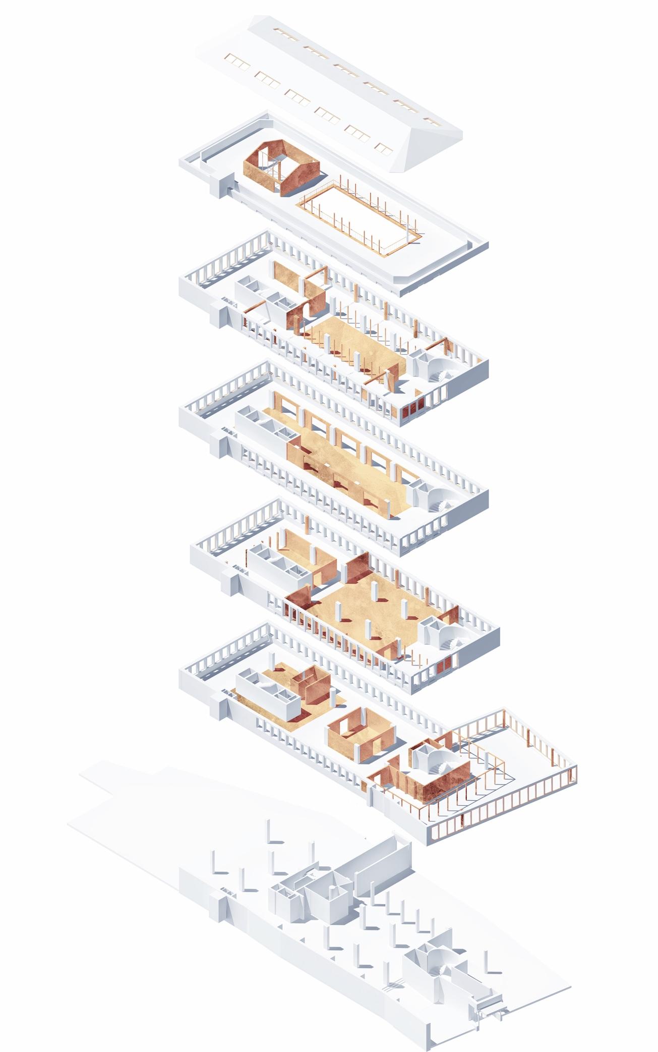 interventions in the building,Karolina Pajnowska,2017 Lunds Tekniska Högskola diploma studio