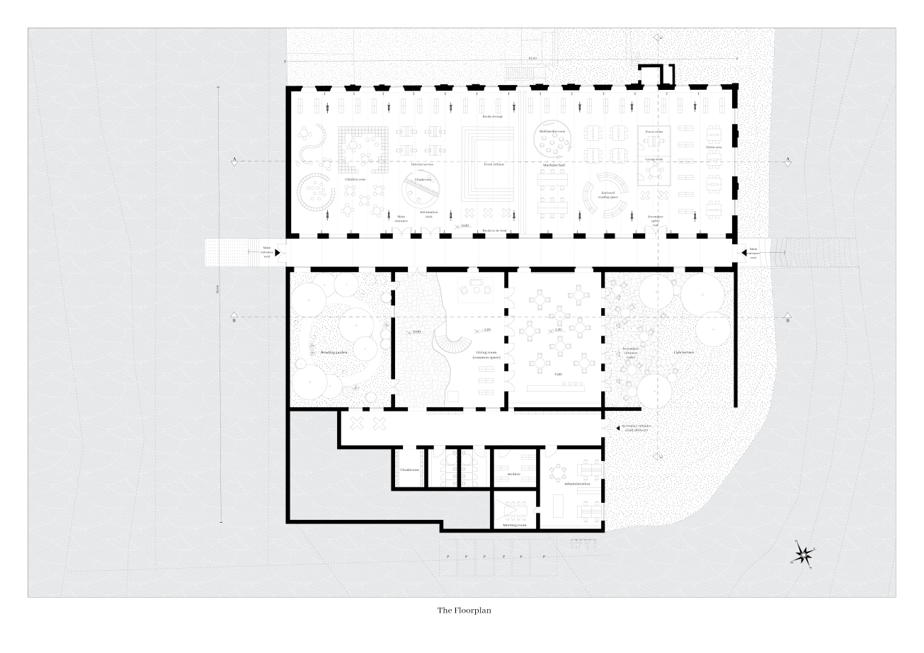 11_ RE-LINK, Drawings_Floorplan, Brygida Zawadzka, Student of Master program in TU Delft, Heritage&Architecture