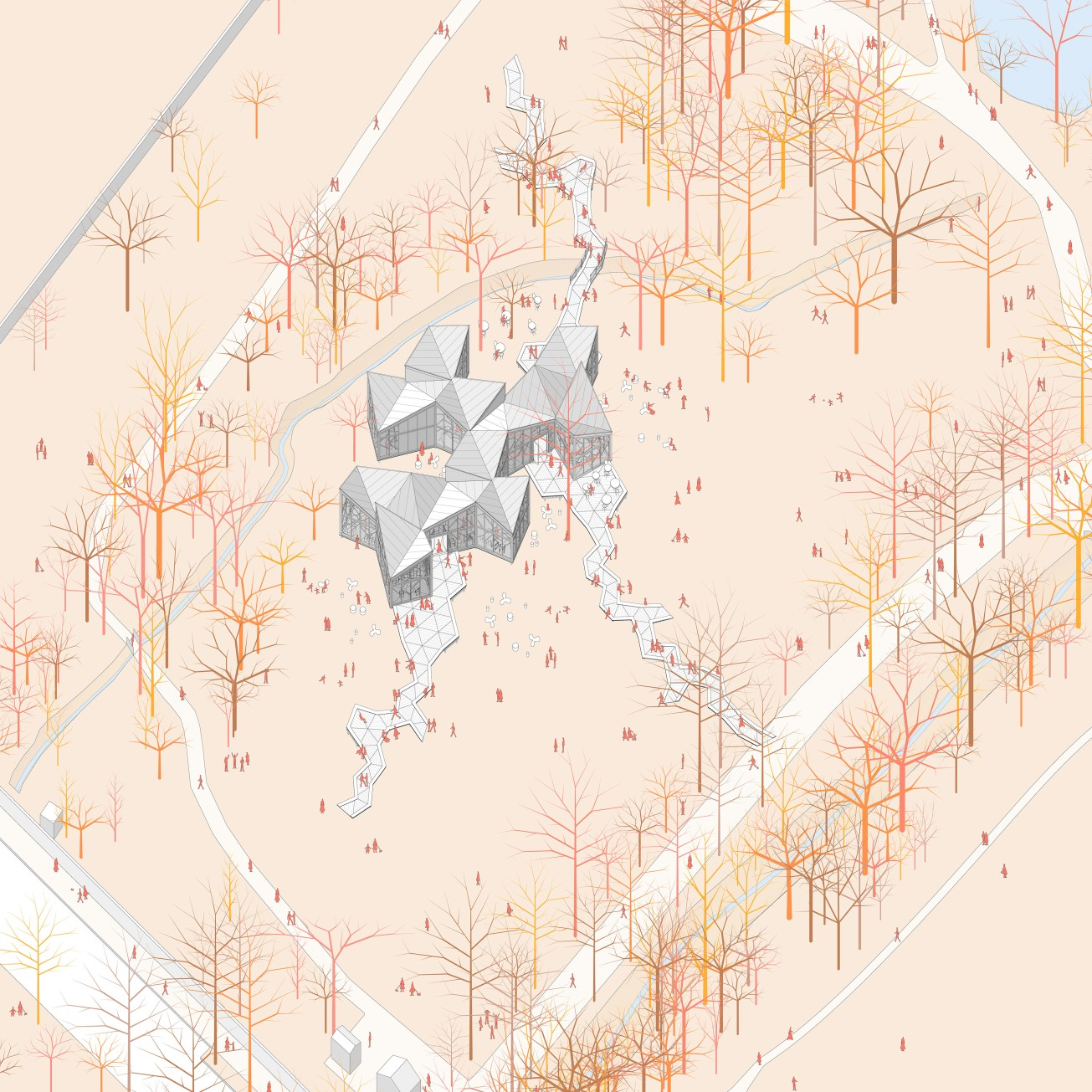 1_MIMESI (axonometry)_Marco Nucifora_2017_Graduation project_University of Florence (Architecture) - Italy