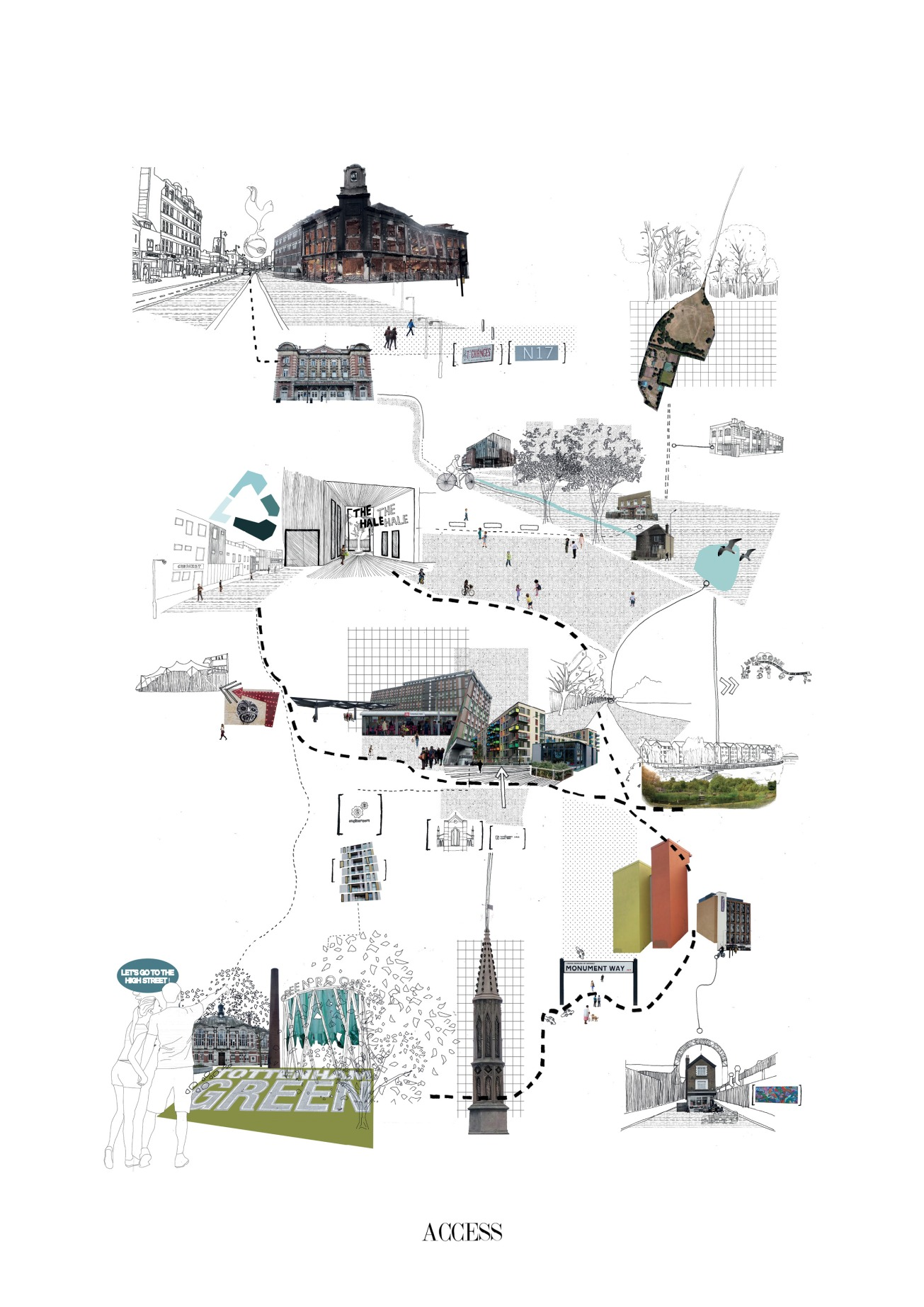 04. Tottenham Mindmap, Chen Man, Thesis Project (Final Year Masters, University of Nottingham)