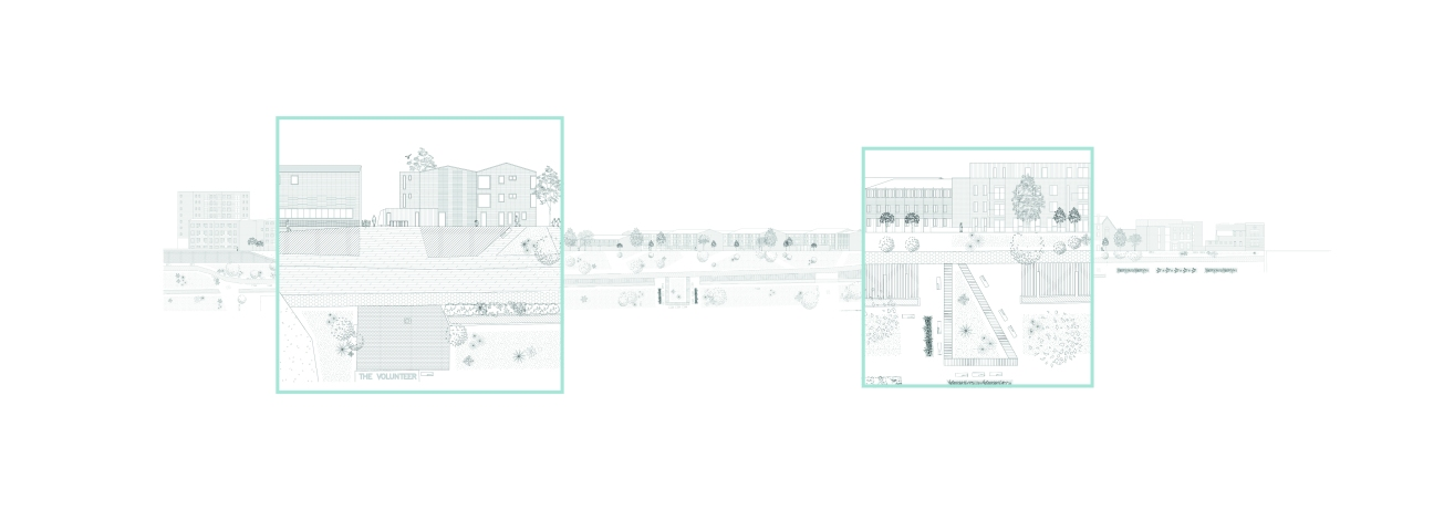 07. Green Link Elevation, Chen Man, Thesis Project (Final Year Masters, University of Nottingham)