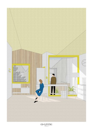 14. Co-living View, Chen Man, Thesis Project (Final Year Masters, University of Nottingham)