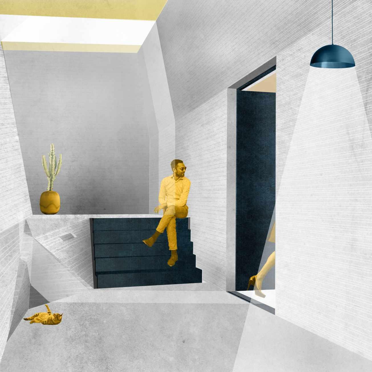Dramatic daylight enters underground spaces, Evgenia Vlachaki, TUDelft MSc Architecture, Architecture and Public Building