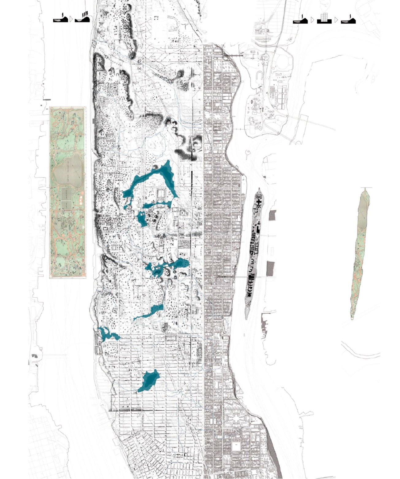 Manhattan_Roosevelt Island, management of the future ruins as landscape in motion, Laura Huerga, Final thesis project