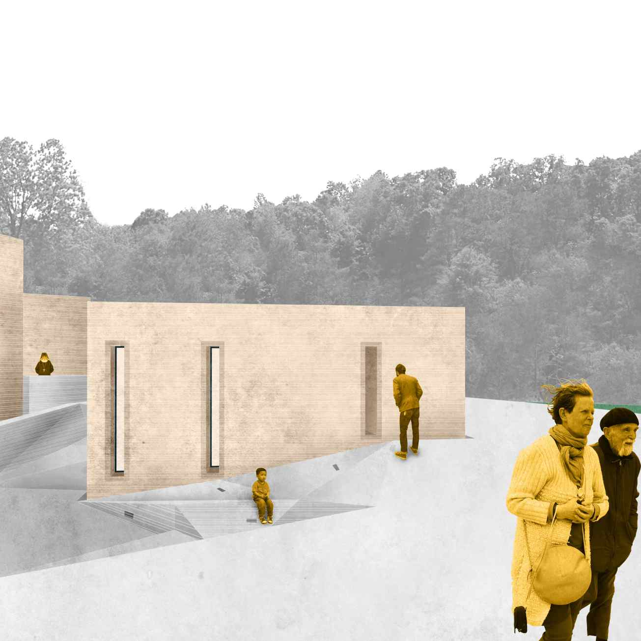 Material transitions, Evgenia Vlachaki, TUDelft MSc Architecture, Architecture and Public Building