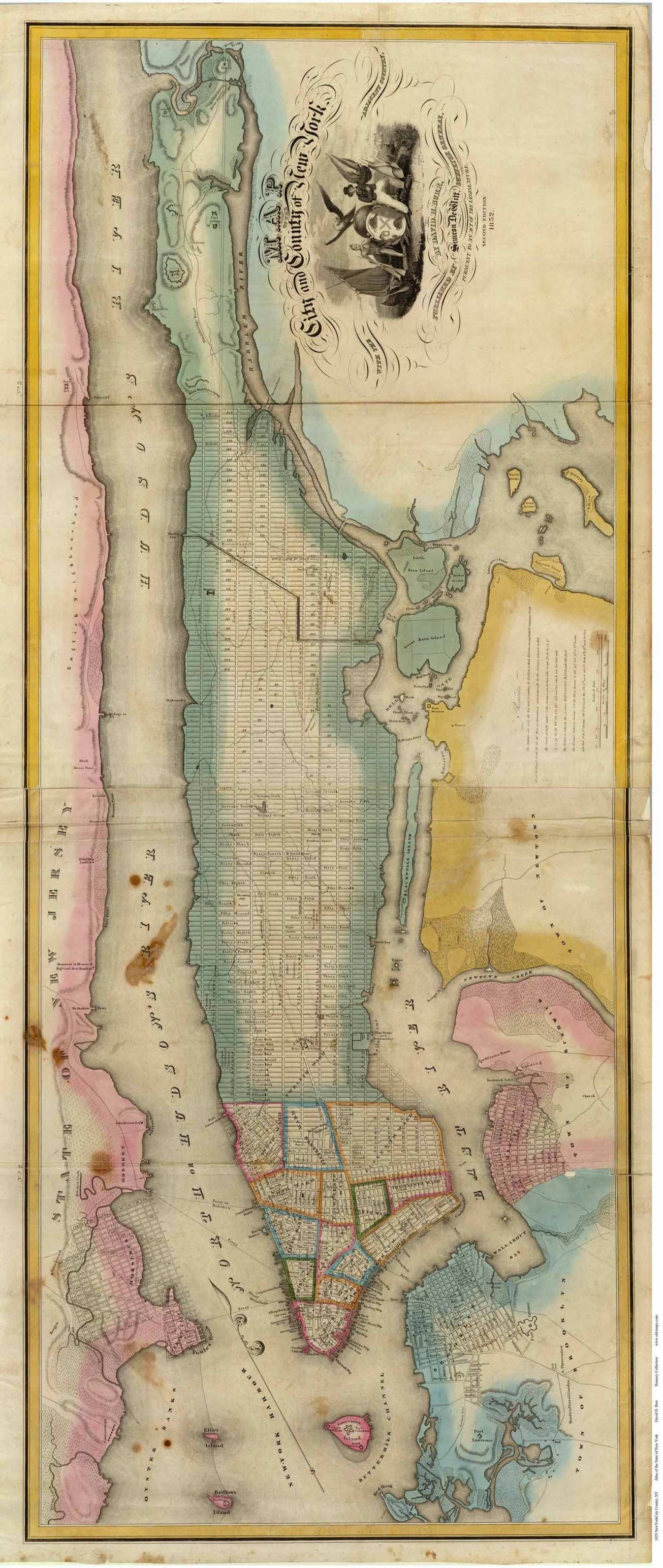 Old maps of Manhattan by Egbert L. Viele.
