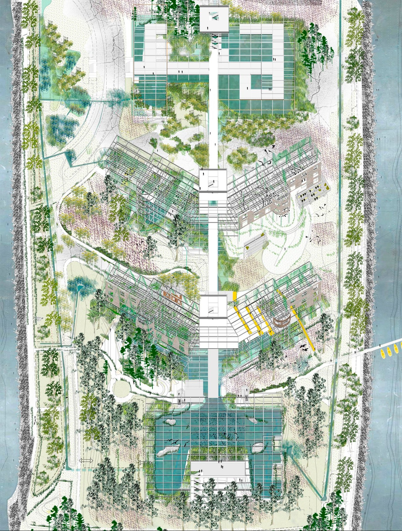 PLAN_Roosevelt Island, management of the future ruins as landscape in motion, Laura Huerga, Final thesis project