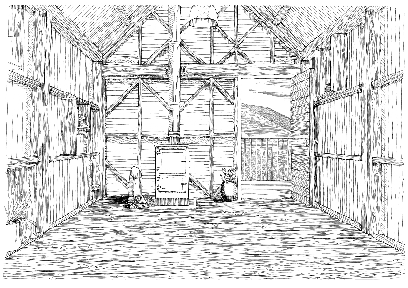 Ryan Hinson_Interior Drawing