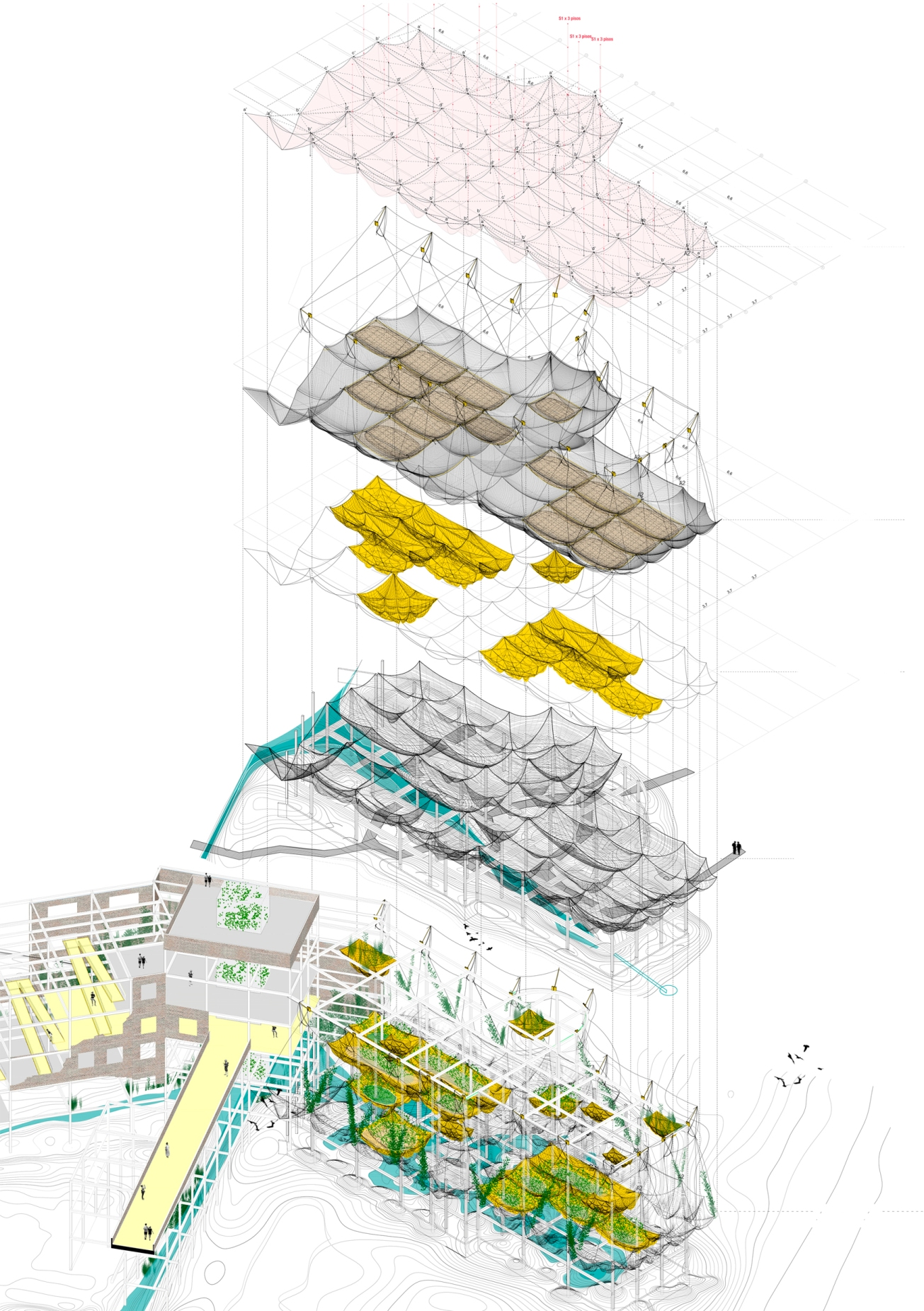 STRUCTURE_Roosevelt Island, management of the future ruins as landscape in motion, Laura Huerga, Final thesis project
