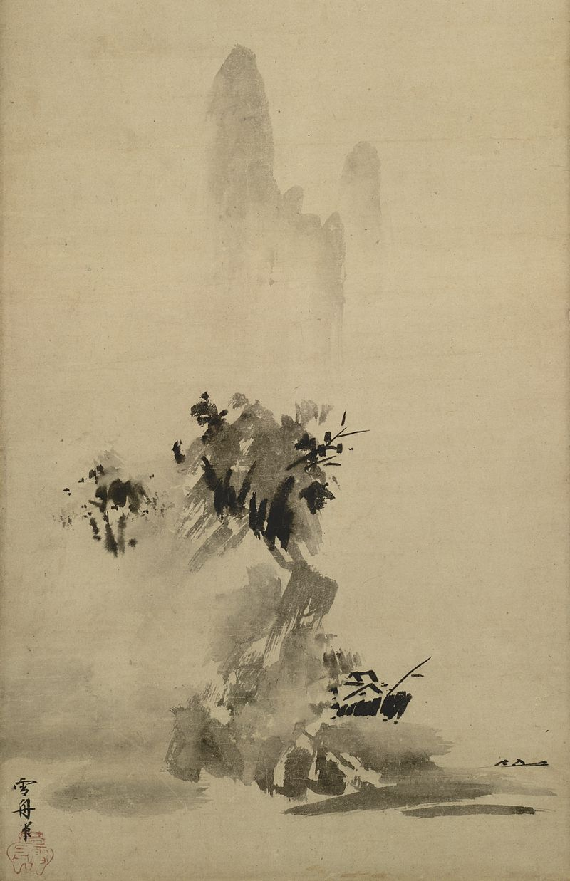 semi-e paintings by Sesshū Tōyō