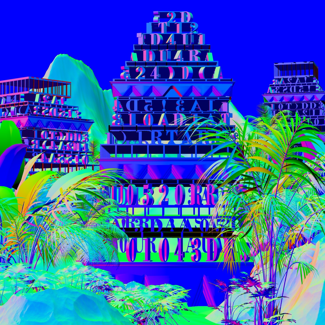 Blue screen at the border_z-Normals
